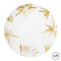 Amara Blossom Porcelain Dinner Plates Set Of 4