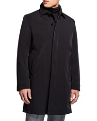 Sanyo Ducasse Water Repellant Balmacaan Coat Black