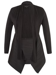 Chesca Crush Pleat Shawl Shrug Black