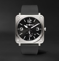 Bell And Ross Br S 39Mm Steel Rubber Watch Black
