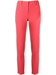 Emporio Armani Skinny Fit Trousers Pink