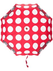 Moschino Polka Dot Umbrella Red