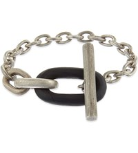 Parts Of Four Single Toggle Bracelet Black Wood Dirty Silver