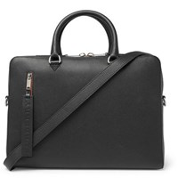 Burberry Full Grain Leather Briefcase Black