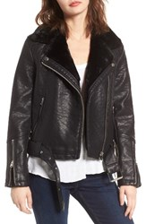 Topshop Women's Vardy Faux Leather Biker Jacket