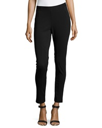 Liquid By Sioni Stretch Ponte Skinny Ankle Pants Black