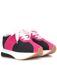 Marni Bigfoot Suede Sneakers Black