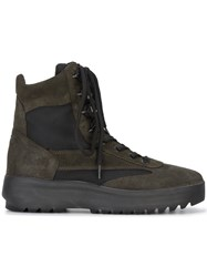 Yeezy Suede Military Boots Leather Polyester Rubber Black