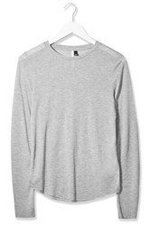 Crew Neck Top By Boutique Grey Marl