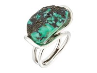 King Baby Studio Wire Ring W A Natural Turquoise Stone Silver Turquoise Ring Multi