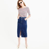J.Crew Pre Order Denim Cargo Pencil Skirt