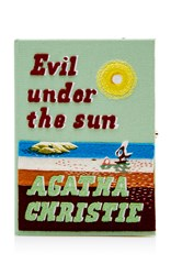 Olympia Le Tan Evil Under The Sun Book Clutch Green