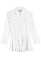 Burberry London Cotton Shirt With Peplum White