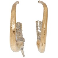 Pearls Before Swine Gold And Silver Small Thorn Hoop Earrings