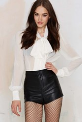 Nasty Gal Moving On Up Vegan Leather Short
