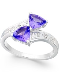 Macy's Tanzanite 5 8 Ct. T.W. And Diamond Accent Ring In 14K White Gold