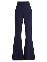 Proenza Schouler High Rise Flared Trousers Navy