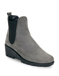 The Flexx Slimmer Leather Wedge Ankle Boots Smoked Grey