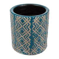 Amara Jamboree Blue Pot Zigzag