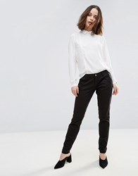 Only Paris Low Skinny Chino Trousers Black