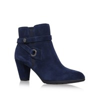 Anne Klein Chelsey High Heel Ankle Boots Navy