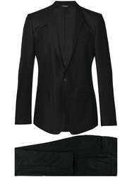 Dolce And Gabbana Formal Two Piece Suit Men Silk Cupro Viscose Virgin Wool 50 Black