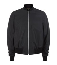 Paul Smith Ps By Leather Bomber Jacket Male Black