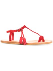 N.D.C. Made By Hand Thong Sandals Red