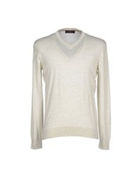Les Copains Knitwear Jumpers Men Ivory