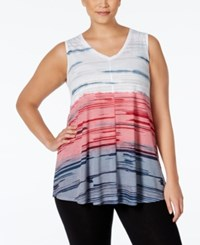 Styleandco. Style And Co. Plus Size Printed Swing Tank Top Only At Macy's Red Combo