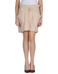 Gold Case Sogno Knee Length Skirts Beige