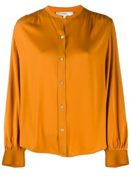 Vince Shirred Back Blouse Orange
