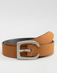 Asos Tan Belt With Western Horseshoe Buckle Tan