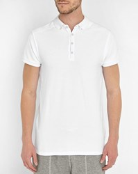 Scotch And Soda White Home Long Polo Shirt