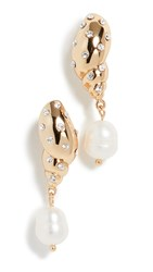 Kate Spade New York Under The Sea Shell Stud Earrings Clear Gold