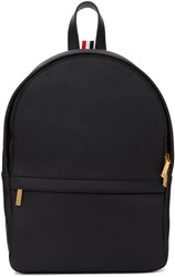 Thom Browne Black Leather Small Unstructured Backpack