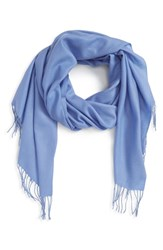 Nordstrom Tissue Weight Wool And Cashmere Scarf Blue Colony