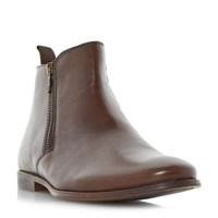 Howick Marshel Smart Double Zip Ankle Boots Brown