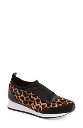 Donald J Pliner Women's 'Ryley' Genuine Calf Hair Slip On Sneaker Multi Giraffe