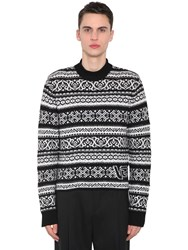 Versace Wool Jacquard Sweater Black
