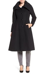 George Simonton Women's High Neck Wool Blend Long Coat