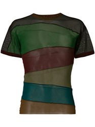 Jean Paul Gaultier Vintage Sheer Panelled T Shirt Multicolour