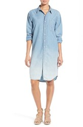 Women's Lucky Brand Dip Dye Denim Shirtdress