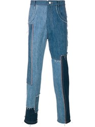 Damir Doma Paco Patch Trousers Blue