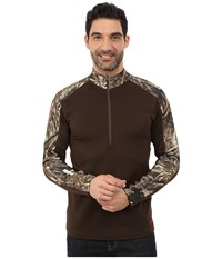 Terramar 4.0 Predator Ii Quarter Zip Realtree Max 5 Bison Brown Men's Long Sleeve Pullover
