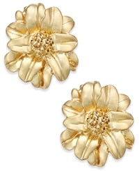 Charter Club Gold Tone Floral Stud Earrings Only At Macy's