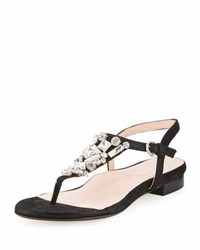 Taryn Rose Ibsen Crystal T Strap Sandal Sft Gold