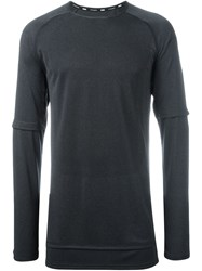 Puma Layered Sleeve Sweater Grey