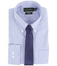 Lauren Ralph Lauren Micro Check Classic Button Down Shirt Blue Men's Long Sleeve Button Up