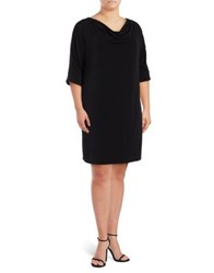 Jones New York Plus Dolman Sleeve Dress Black